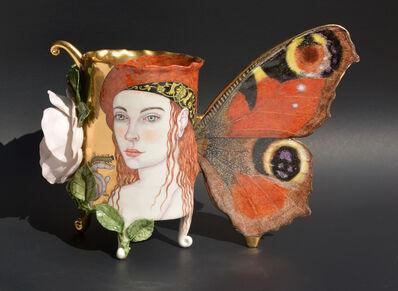 Irina S. Zaytceva, 'Peacock Butterfly Vase', 2017