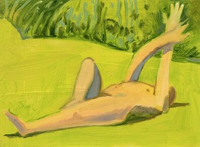 Lois Dodd, 'Reclining Nude with Crossed Arms', 2018