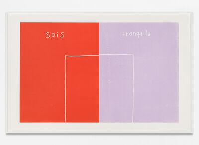Andrea Büttner, 'Sois Tranquille', 19.001