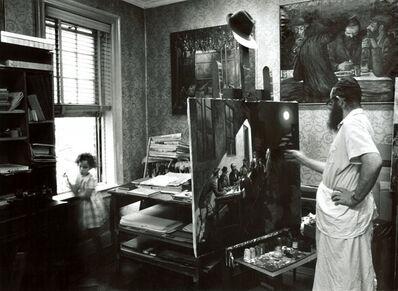 Neil Folberg, 'Zalman Kleinman Painting in His Studio, Brooklyn, NY', 1975