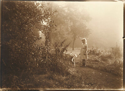 Léonard Misonne, 'Girl and Her Goat', 1920s