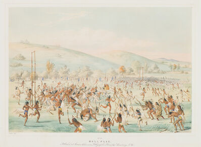 George Catlin, 'Ball Play', 1845