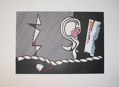 Roy Lichtenstein, 'Figures with Rope, from the 'Surrealist Series'', 1978
