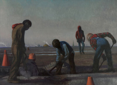 Bo Bartlett, 'Bo Bartlett Men Digging', 1984