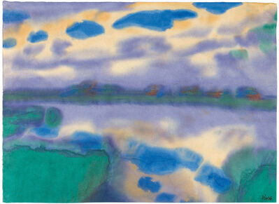 Emil Nolde, 'Afternoon by the water', 1930/1935