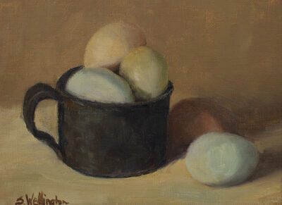Susan Wellington, 'Eggaxactly!', 2019