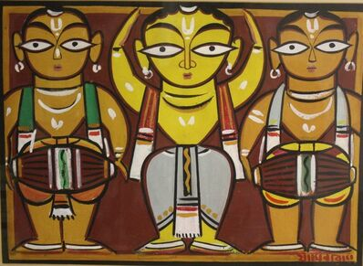 Jamini Roy, 'Untitled (Dancer with Drummers)'