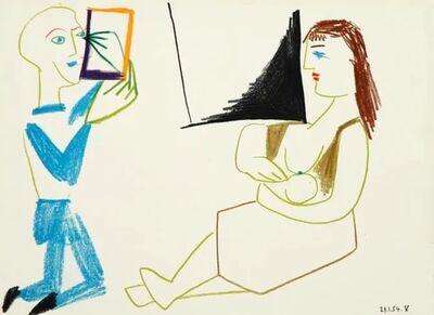 Pablo Picasso, 'Comédie Humaine (29.1.54 V)', 1954
