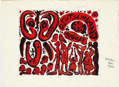 A.R. Penck, 'O.T. (BANG DEUTSCHLAND RADIO 1 AUGUST).', 1996