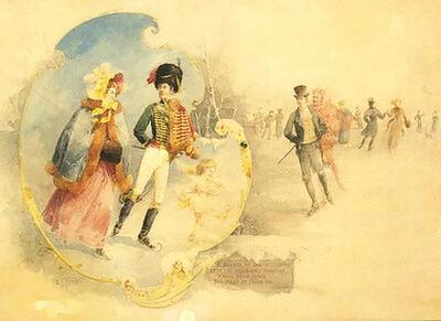 Theo Hampe, 'Skating Couple, Jealous Onlooker', 1895