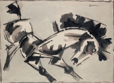 M. F. Husain, 'Untitled (Horse)', 1960