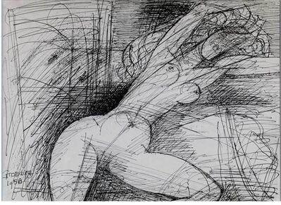 Marcel Gromaire, 'Nu au bras levés ', 1958