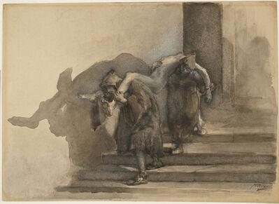 Gaetano Previati, 'The Monatti, illustration to Alessandro Manzoni's I Promessi Sposi', ca. 1895-99