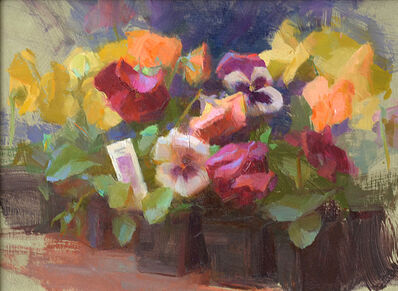 Susan Lyon, 'Pansies '