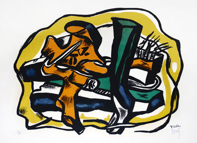 Fernand Léger, 'Composition sur fond Jaune', 1952
