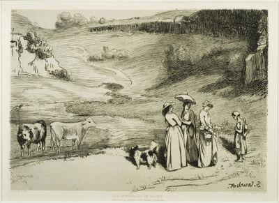 Gustave Courbet, 'Les Demoiselles de village', 1867