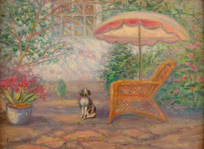 Louise Kamp, 'Patio with Dog', ca. 1930