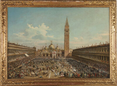 Unknown Artist, 'The Hunting of Bulls in Piazza San Marco'
