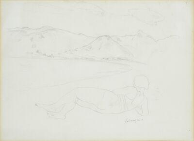 Henri Lebasque, 'Femme nue dans un paysage'