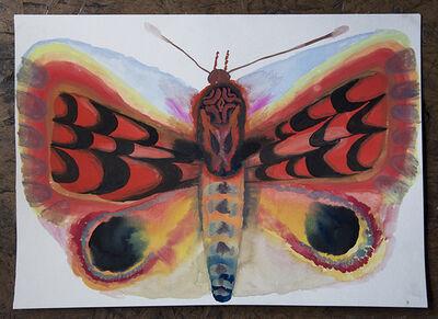 Allison Schulnik, 'Loch Bone Moth #1', 2017