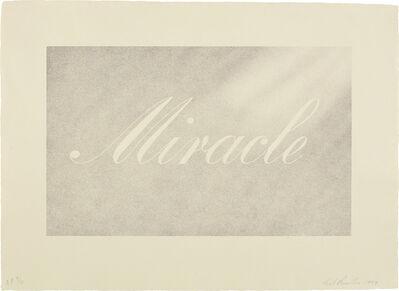 Ed Ruscha, 'Miracle', 1999