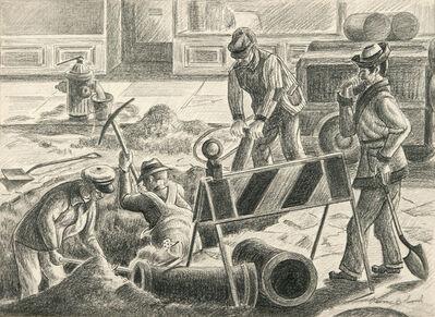 Aaron Bohrod, 'City Workers', c. 1930s