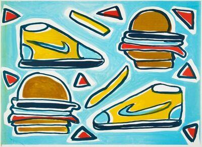 Katherine Bernhardt, 'Cheeseburger Deluxe ', 2016