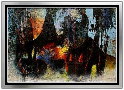 Leonardo Nierman, 'Leonardo NIERMAN Original Oil Painting Signed Abstract Cosmic Artwork Framed SBO', 1950-1969