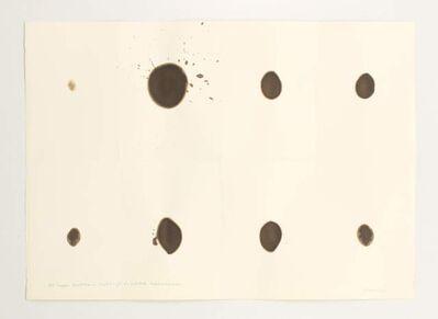 Dóra Maurer, '150 tropfen nussholzbeize durchdringt 8 x gefaltetes fabriano druckpapierpapier', 1972