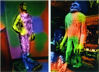 Mike Kelley, 'Plaster Statue of John Glenn H.S, Westland, MI/ Chainsaw Sculpture of Bigfoot, Redwood Area of Northern CA', 2001