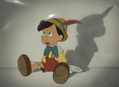 Walt Disney Studios, 'Walt Disney Production Cel of Pinocchio on a Courvoisier Background from Pinocchio ', 1940