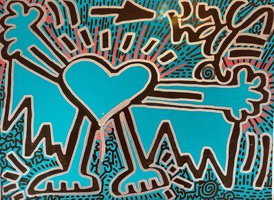 LA II (Angel Oritz), 'Untitled (Turquoise Heart)', 2018