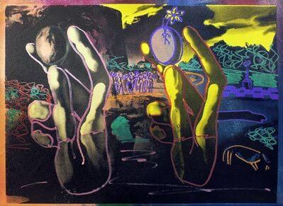 Steve Kaufman, 'HOMAGE TO DALI (WORLD IN HAND)', 2001-2007