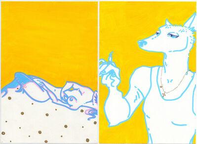 Itziar Bilbao Urrutia, 'Yellow Voyeur Diptych', 2000