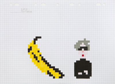 Invader, 'Warhol and Banana', 2013