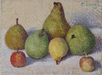 Achille Laugé, 'Nature morte aux cinq poires et aux deux pommes', Unknown