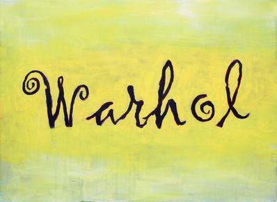 Heribert C. Ottersbach, 'Warhol (aus der Serie: Signatur mit Bild)', 2015