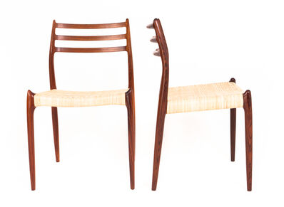 Niels Otto Møller, 'N.O 78 Set of 14 Rosewood Dining Chairs'