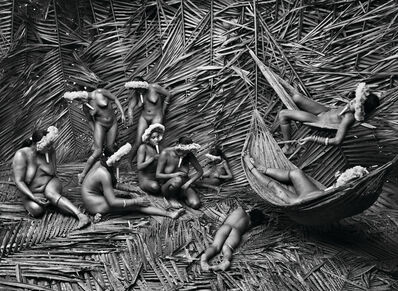 Sebastião Salgado, 'Women in the Zo'é village of Towari Ypy color their bodies with the red fruit of the urucum. Pará, Brazil', 2009
