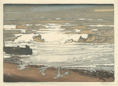 Auguste Lepère, 'Les Lames deferlent, Maree de Septembre(The Rolling Waves, September Tide)', 1901
