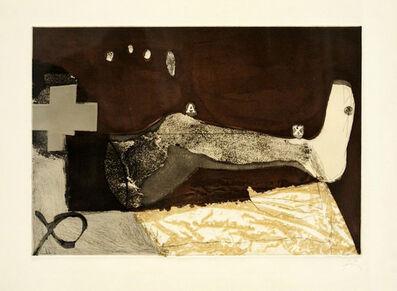 Antoni Tàpies, 'La cama', 1975