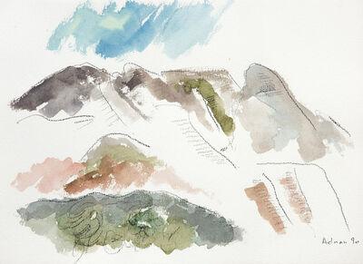 Etel Adnan, 'Montagne Sainte Victoire 10', 1990