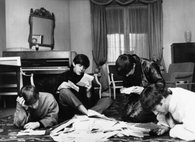 Harry Benson, 'Beatles with Fan Mail, Paris', 1964