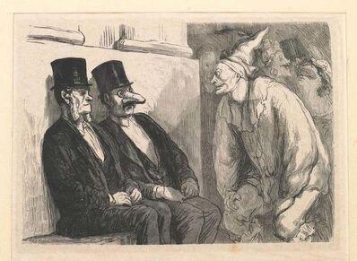 Honoré Daumier, 'Bal de l'Opera: Tu t'amuses trop!', 1868