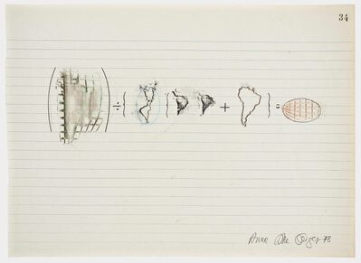 Anna Bella Geiger, 'Equations No 34', 1978