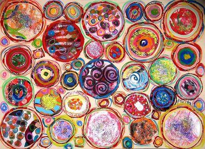 Pacita Abad, 'Black spirals', 2003