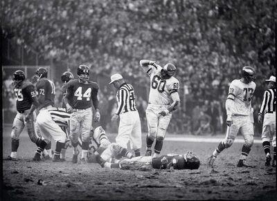 John G. Zimmerman, 'Chuck Bednarik Knocking Out Frank Gifford', 1960