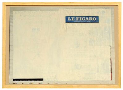 """Jaroslaw Kozlowski, 'from the """"Recycled News"""" series ( Le Figaro - French newspaper)', 2008"""