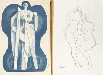 """Alexander Archipenko, 'Portefolio, Ensemble de onze lithographies signées """"A.Archipenko""""'"""