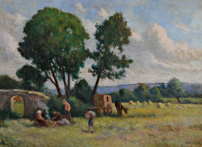 Maximilien Luce, 'La Roulotte, Auvers sur Oise'